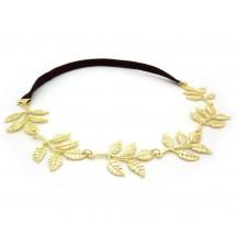 Headband feuilles doré 2