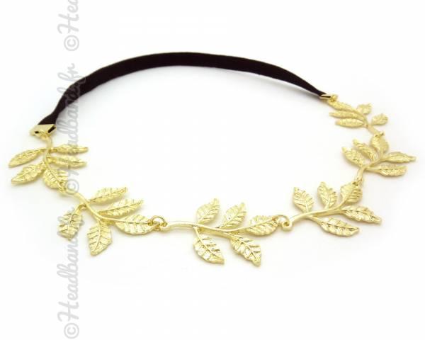 Headband feuilles doré