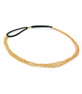 Headband fine chaine dorée
