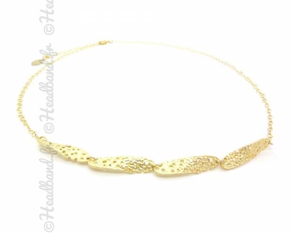 Bijou de tête plaqué or