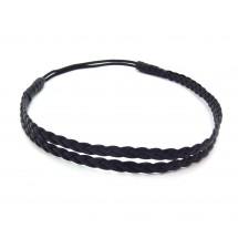 Headband double noir porté
