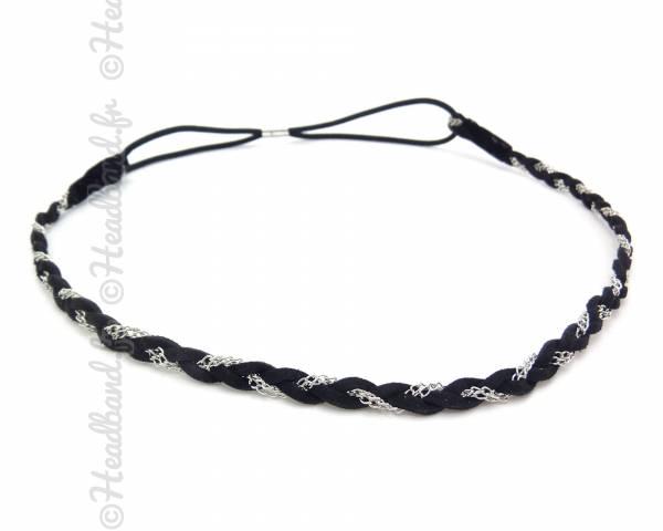 Headband tresse chaine argenté