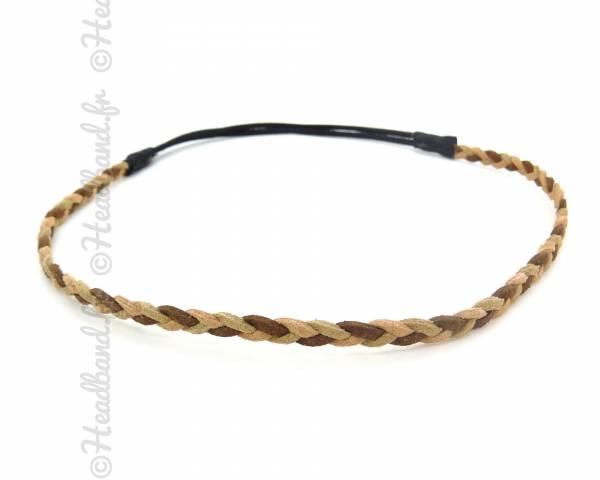 Headband tressé tricolore