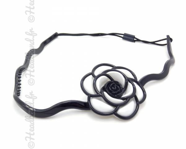 Headband fleur blanc et noir
