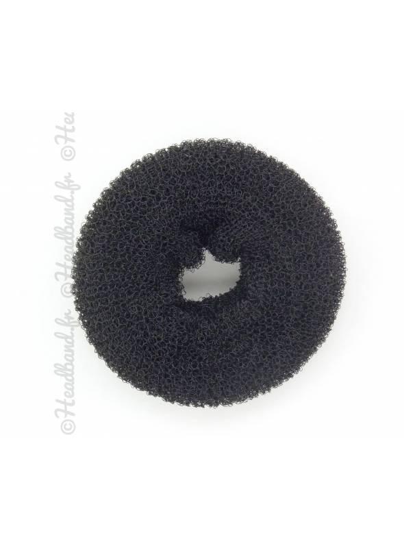 Donut à chignon noir vue dessus