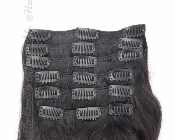 Kit extensions naturelles à clip - Noir