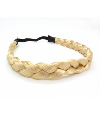 Headband tresse cheveux blond platine
