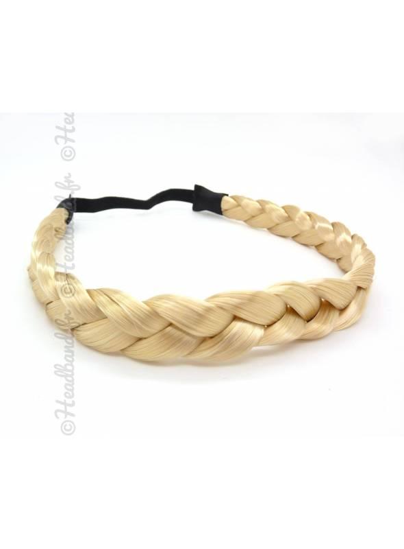 Headband tresse cheveux blond platine