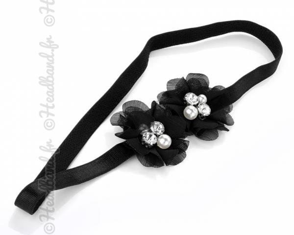 Headband fleur noir