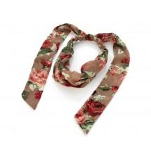 Foulard cheveux motifs fleuris porté