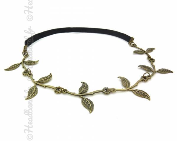 Headband feuilles déesse bronze