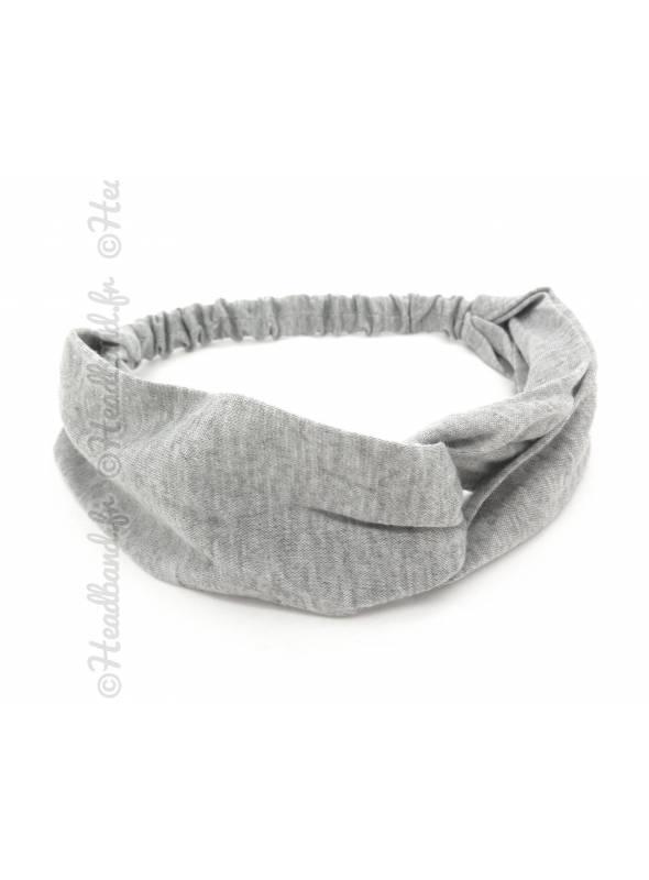 Turban croisé gris