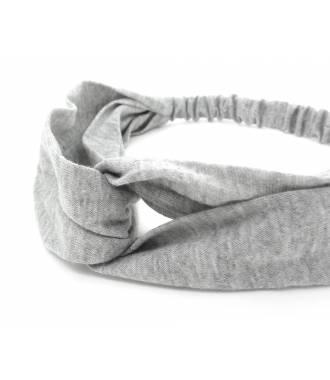 Turban croisé gris zoom
