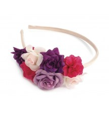 Serre-tête floral multicolore