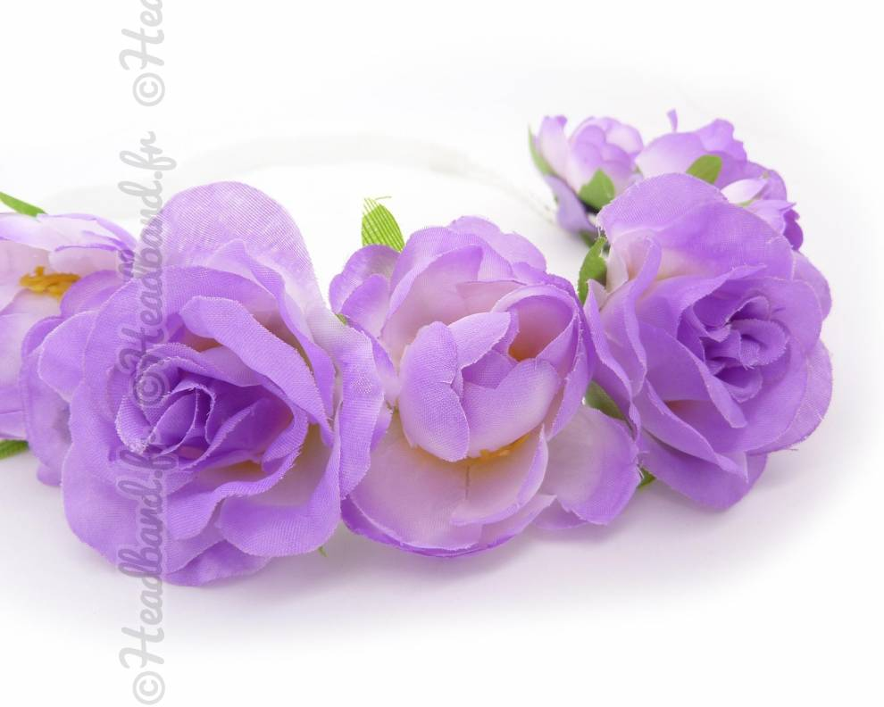 Couronne de fleur violette for Couronne de fleurs