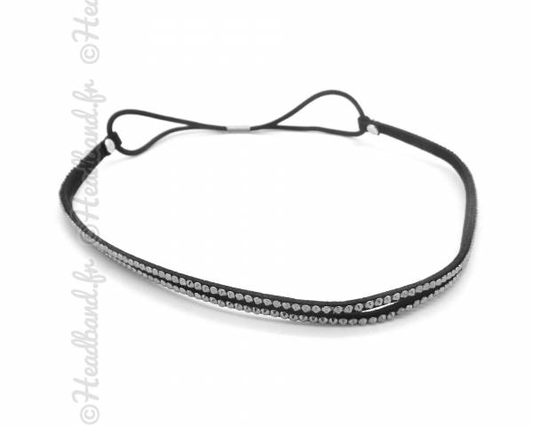 Headband strass gris