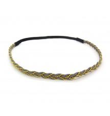 Headband tressé chaine gris bis