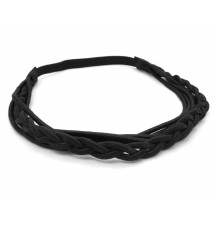 Headband indian noir porté