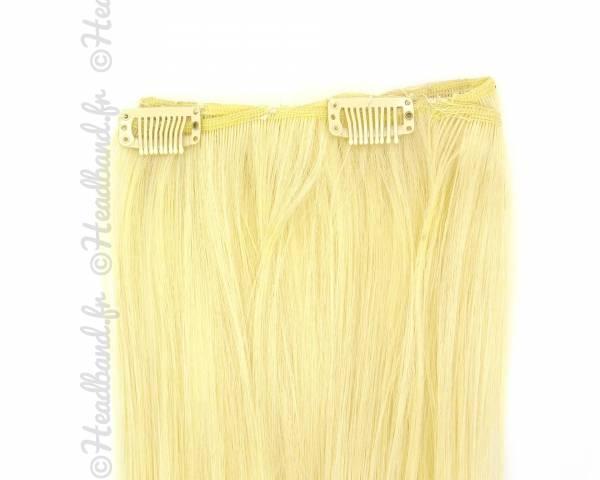 Extension monobande à clip - Blond clair