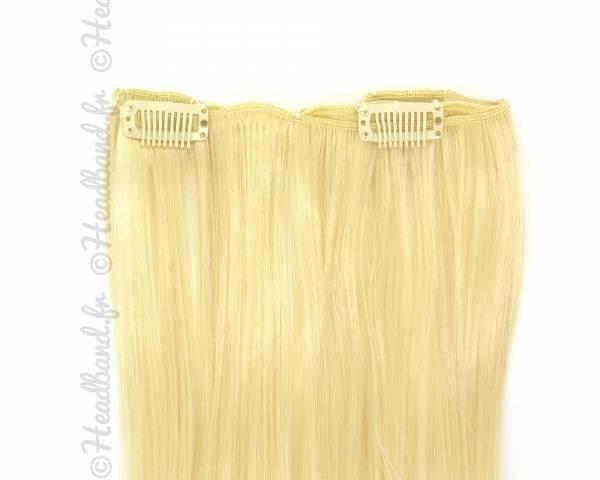 Extension monobande à clip - Blond platine