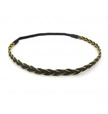 Headband tressé chaîne noir porté