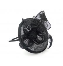 Serre-tête chapeau noir dos