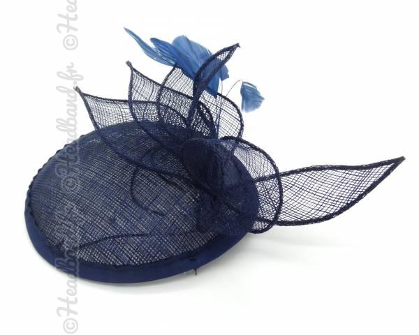Bibi chapeau sisal bleu