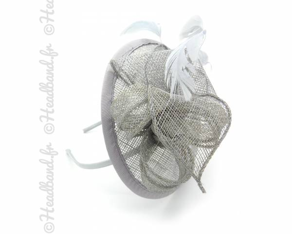 Serre-tête chapeau gris