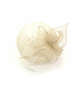 Serre-tête chapeau crème