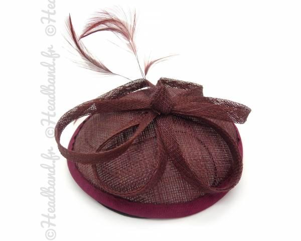 Bibi chapeau sisal bordeaux