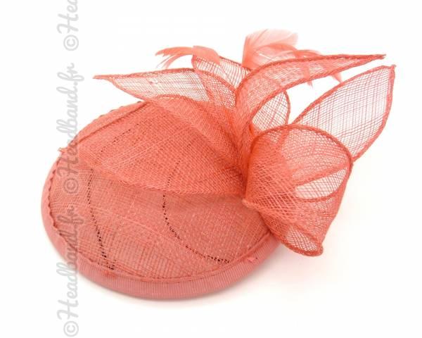 Bibi chapeau sisal corail