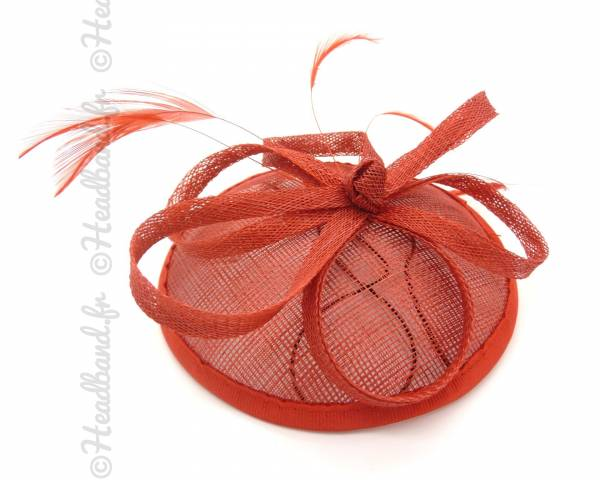 Bibi chapeau sisal rouge
