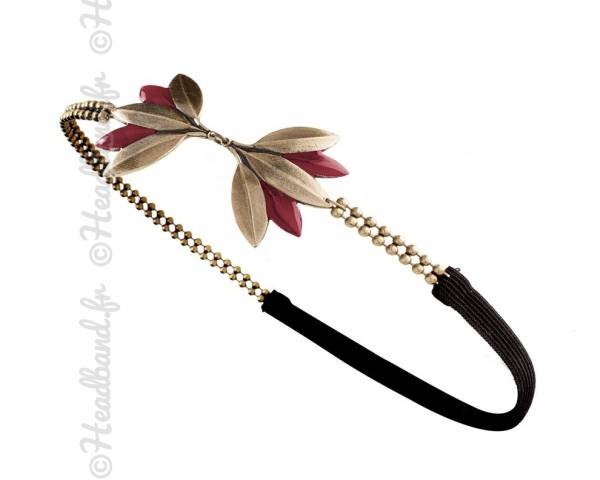 Headband Lotus rouge