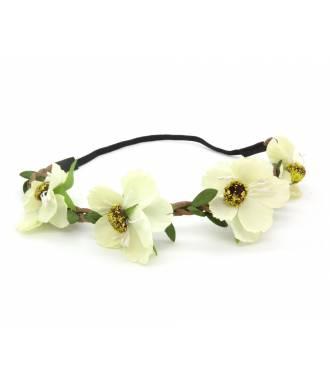 Headband floral crème