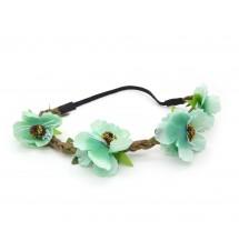 Headband floral vert zoom