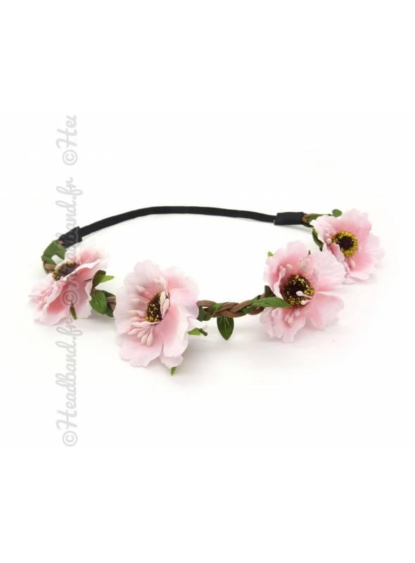 Headband floral rose