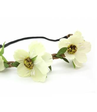 Headband floral crème zoom