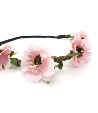 Headband floral rose zoom