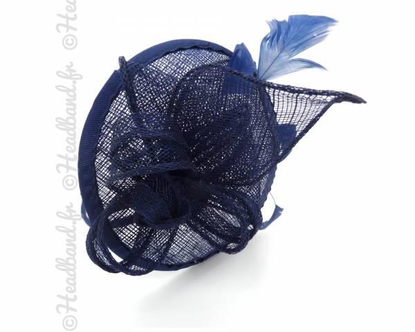 Serre-tête chapeau bleu