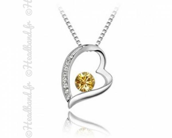 Collier St Valentin cristal jaune
