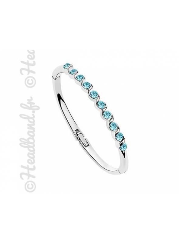 Bracelet élégant cristaux bleu