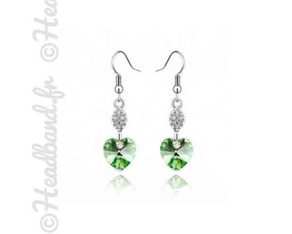 Boucles d'oreille Valentin vert