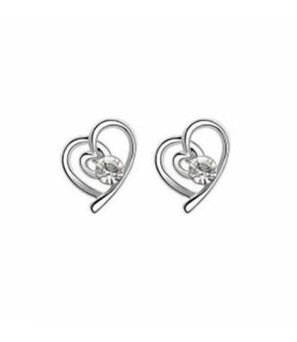 Boucles d'oreilles St Valentin blanches