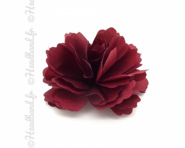 Pince/broche fleur bordeaux