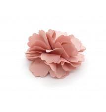 Pince crocodile/broche fleur rose dos