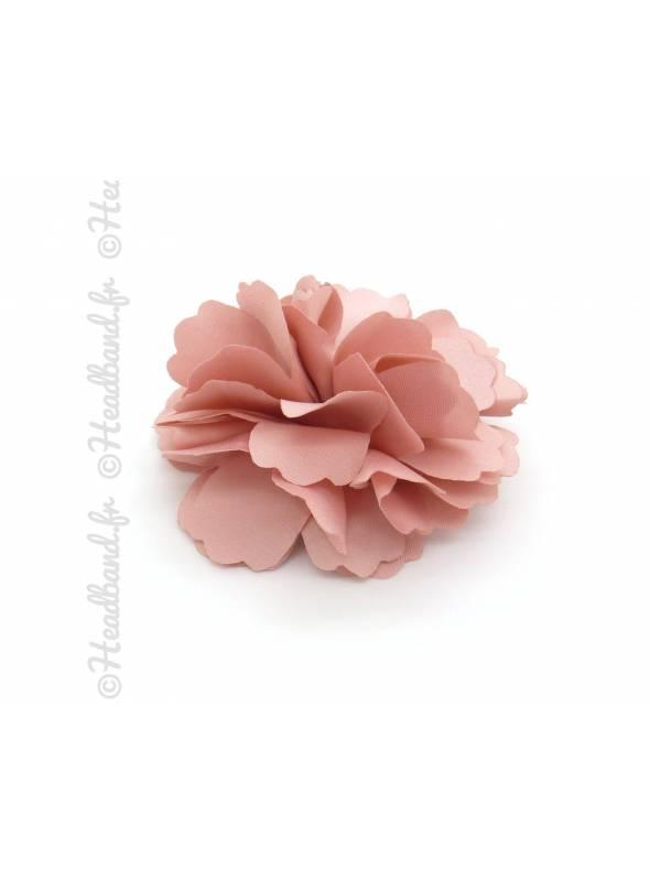 Pince crocodile/broche fleur rose
