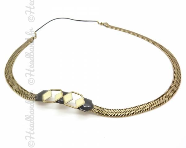 Headband Hexabis noir et sable