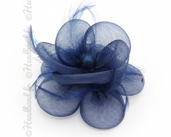 Bibi tulle fleur bleu