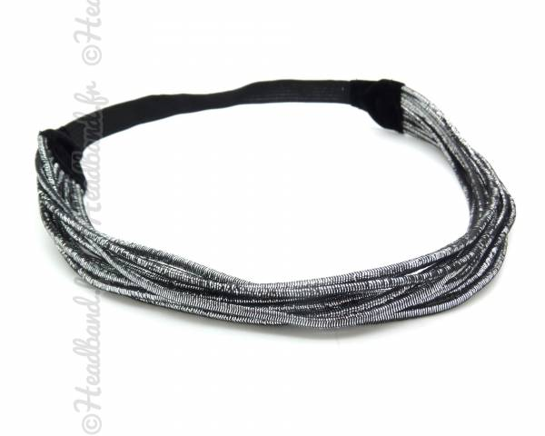Headband stretch lurex argenté