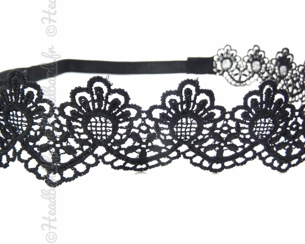 headband motifs effet macram noir. Black Bedroom Furniture Sets. Home Design Ideas